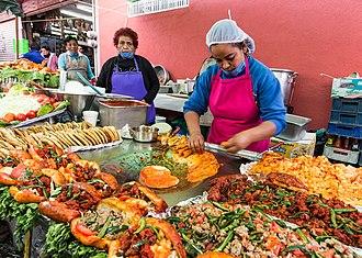 Mexican street food - Street vendors in Leon, Guanajuato