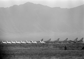 Afghan Air Force - MiG-15 fighters and Il-28 bombers of the Afghan Air Force (AAF) in 1959.