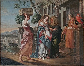 Magnificat (Bach) - 17th-century painting of the Visitation