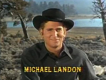 Cropped screenshot of Michael Landon from the ...