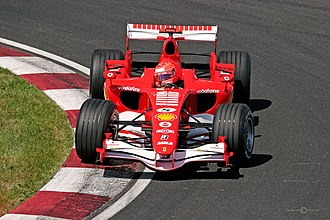 2006 Canadian Grand Prix - Michael Schumacher qualified his Ferrari 248 F1 in fifth position.