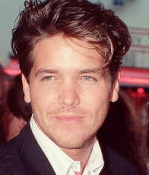 Michael Damian - At the 1990 premiere of Air America.