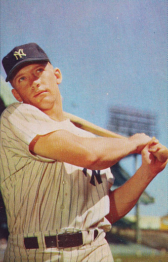 Mickey Mantle was one of the franchise's most celebrated hitters, highlighted by his 1956 Triple Crown and World Series championship. Mickey Mantle 1953.jpg