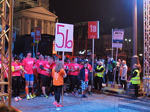Midnattsloppet - The start of Midnight Run in Helsinki in 2014.