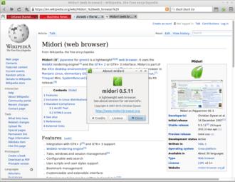 Midori (web browser) - Image: Midori 0.5.11 Heads or Tails