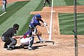 Mike Olt going after a good pitch (6861572118).jpg