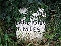 Milestone at Llandyfriog - geograph.org.uk - 925236.jpg