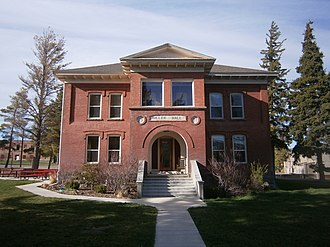 National Register of Historic Places listings in Cassia County, Idaho - Image: Miller Hall Albion Idaho