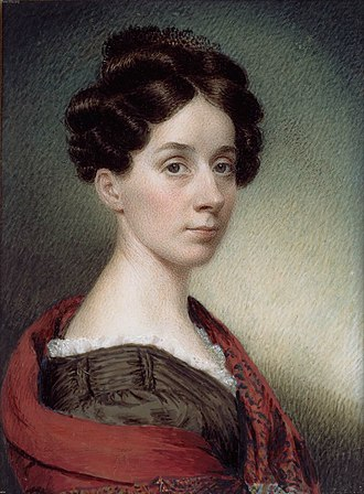 1830 in art - Image: Miniature Painting, Sarah Goodridge Self Portrait