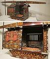 Miniature palanquin, 19th century, lacquered wood, bronze, gold, silk, pigments, Honolulu Museum of Art.jpg
