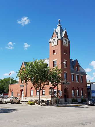 Minnedosa, Manitoba - The Minnedosa Dominion Post Office in downtown Minnedosa.