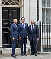 Mnuchin, Kudlow and Javid at 11 Downing Street.jpg