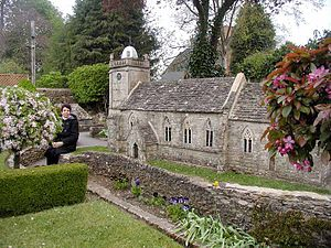 Miniature park - Part of the one-ninth scale model of Bourton-on-the-Water, Gloucestershire, England