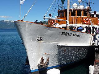 <i>Modesta Victoria</i> Ship in Bariloche, Argentina