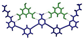 Molecular recognition - Crystal structure of two isophthalic acids bound to a host molecule through hydrogen bonds