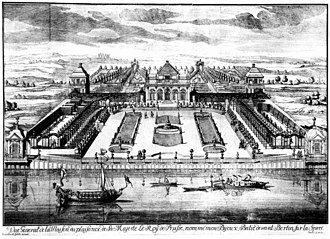 Monbijou Palace - Copper engraving of Monbijou palace by Johann Christoph Böcklin, 1703