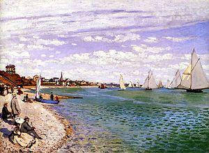 """Sainte-Adresse - """"Régates à Sainte-Adresse"""" by Claude Monet"""
