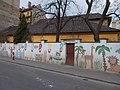 Monkey, giraffe and lion at the Kindergarten. - Szigony Street, 2016 Józsefváros.jpg