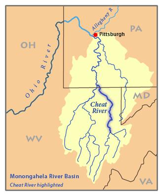 Cheat River - Image: Monon Cheat River