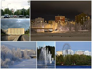 Koskikeskus District of Oulu in Finland