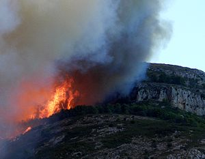 Montgrí Massif - The Montgrí in flames.