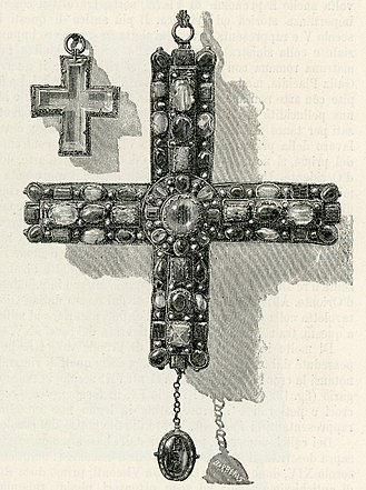 "Berengar I of Italy - The so-called ""Cross of Berengar"", said to have been Berengar I's pectoral cross and now in the cathedral of Monza"