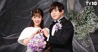 Moon Hee-joon - Park and Moon at the press conference of their wedding
