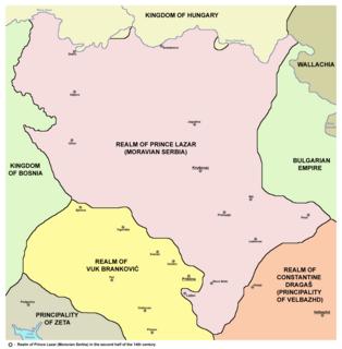 Moravian Serbia Serbian principality between 1371 and 1402