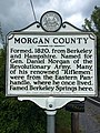 Morgan County Historical Marker Paw Paw Road Woodrow WV 2014 09 16 01.jpg