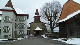 Morrens church and Davel house.JPG