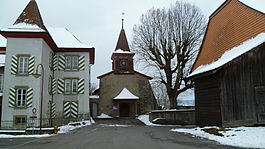 The church of Morrens and house of Abraham Davel