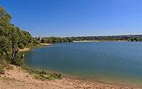 MosOblast Stupino lake near Belopesotsky Convent 08-2016.jpg