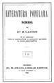 Moses Gaster - Literatura populara romana - 1883.png