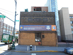 149th Street–Grand Concourse (New York City Subway) - November 2014 image of the NRHP-listed Mott Avenue Control House