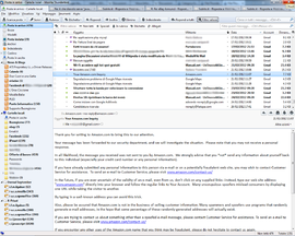Screenshot di Mozilla Thunderbird