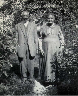 Peter Bruner - Peter Bruner with his wife, about 1919.