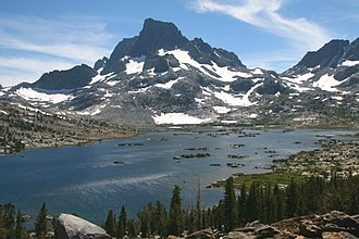 Ansel Adams Wilderness - Banner Peak above Thousand Island Lake