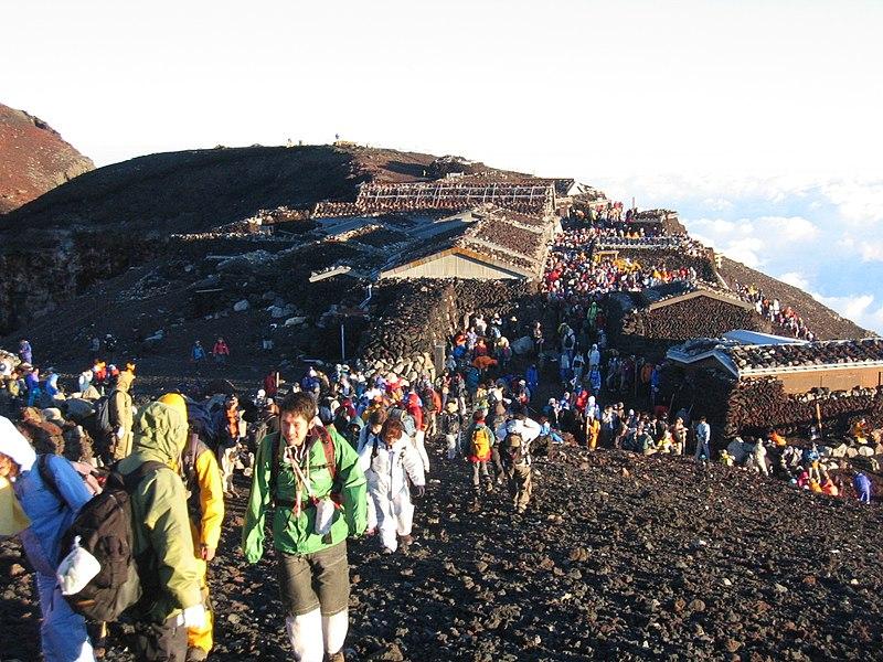 Ficheiro:Mt Fuji Summit.jpg