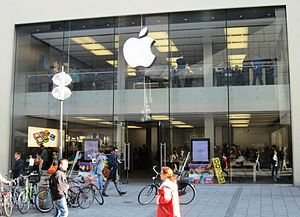 English: Apple Store in Munich, Rosenstraße: t...