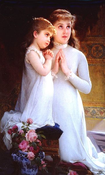 File:Munier, Emile - Two Girls Praying - 19th century.jpg