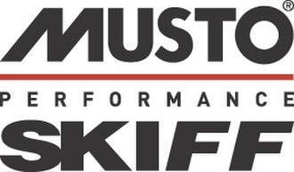 Musto Skiff - Image: Mustoskiff Black Red copy