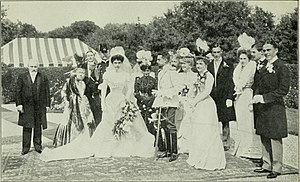 Julia Dent Cantacuzène Spiransky-Grant - Part of the Cantacuzene Wedding Party in Newport