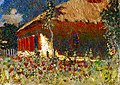 Mykola Burachek - A Cottage at Noon 1928.jpg