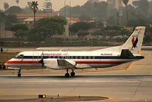 Envoy Air - A Saab 340B''Plus'' formerly operated by American Eagle at Los Angeles International Airport. (2007)
