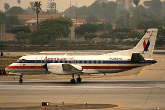 Envoy Air - A Saab 340BPlus formerly operated by American Eagle at Los Angeles International Airport. (2007)