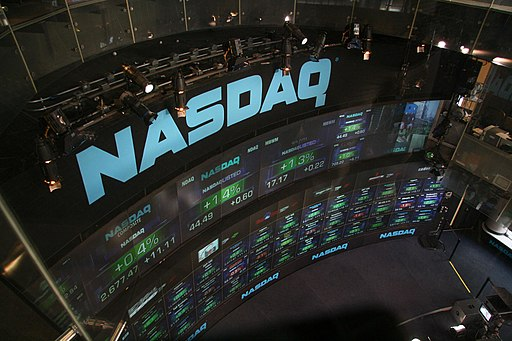 NASDAQ stock market display