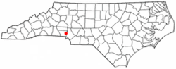 Location of Mount Holly, North Carolina