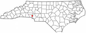 Mount Holly, North Carolina - Image: NC Map doton Mount Holly