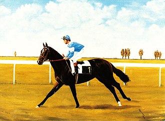 Prix de la Salamandre - Noblequest, oil on canvas  Painting by Bob Demuyser (1920-2003)