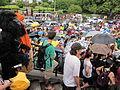 NOLA BP Oil Flood Protest brollys gorilla steps.JPG